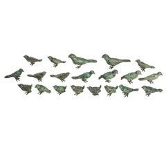 Ilana Goor Bronze Cast Freestanding Bird Sculptures