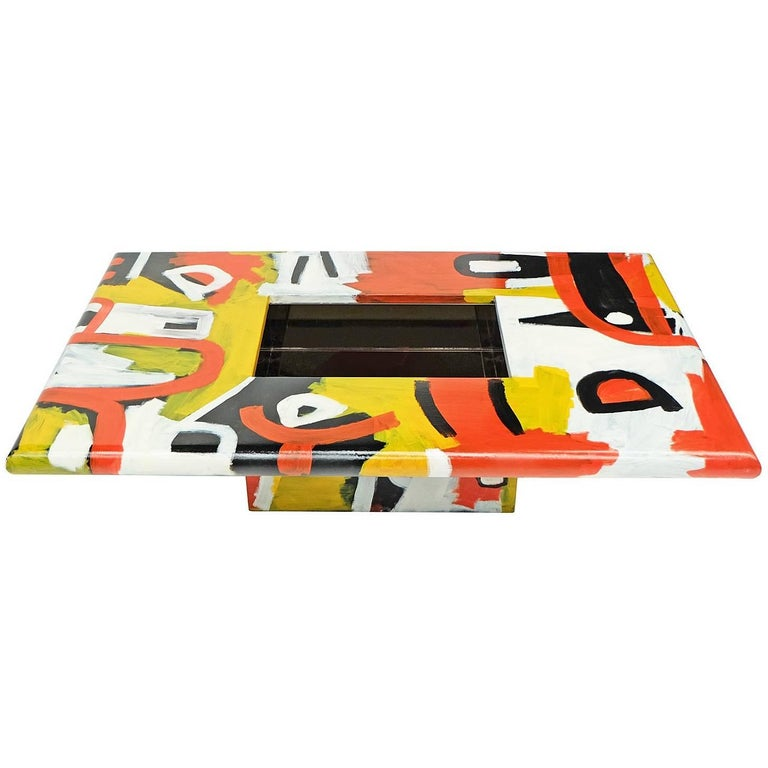 Studio Coffee Table a Bespoke Piece of Art Furniture Tribal Design For Sale