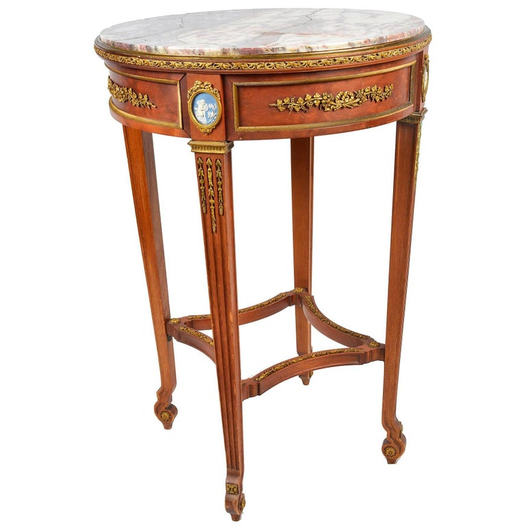 French 19th Century Marble-Top Gueridon