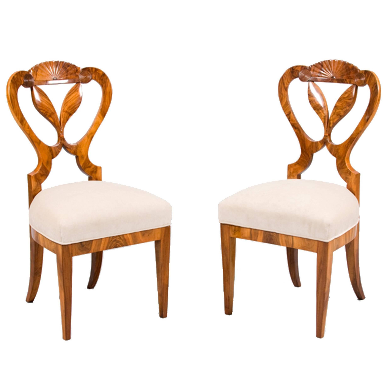 Pair Of Biedermeier Chairs 1