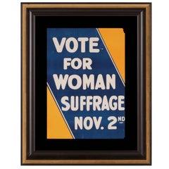 Blaugelbes Original-Poster der Suffragetten-Bewegung