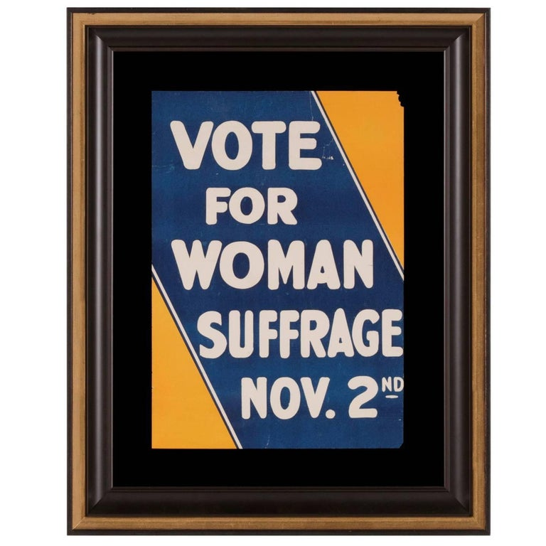 Blue and Yellow Suffrage Movement Poster  For Sale