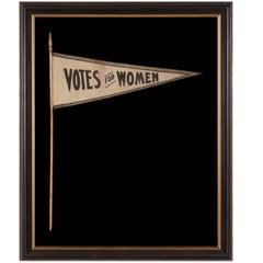 Triangular Suffragette Pennant on Its Original Staff