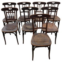 Eight Bistro Chairs from a Theatre, Manufactured by J & J Kohn, Austria