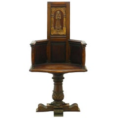 Arts and Crafts Chair Caquetoire Revolving Desk Armchair Ecclesiastic Gothic Rev