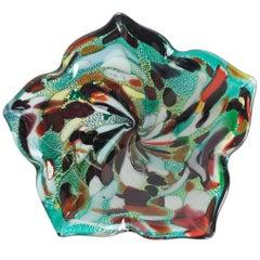 Mid-Century Murano Art Glass Multicolored Bowl