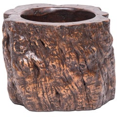 Monumental Chinese Root Scroll Pot