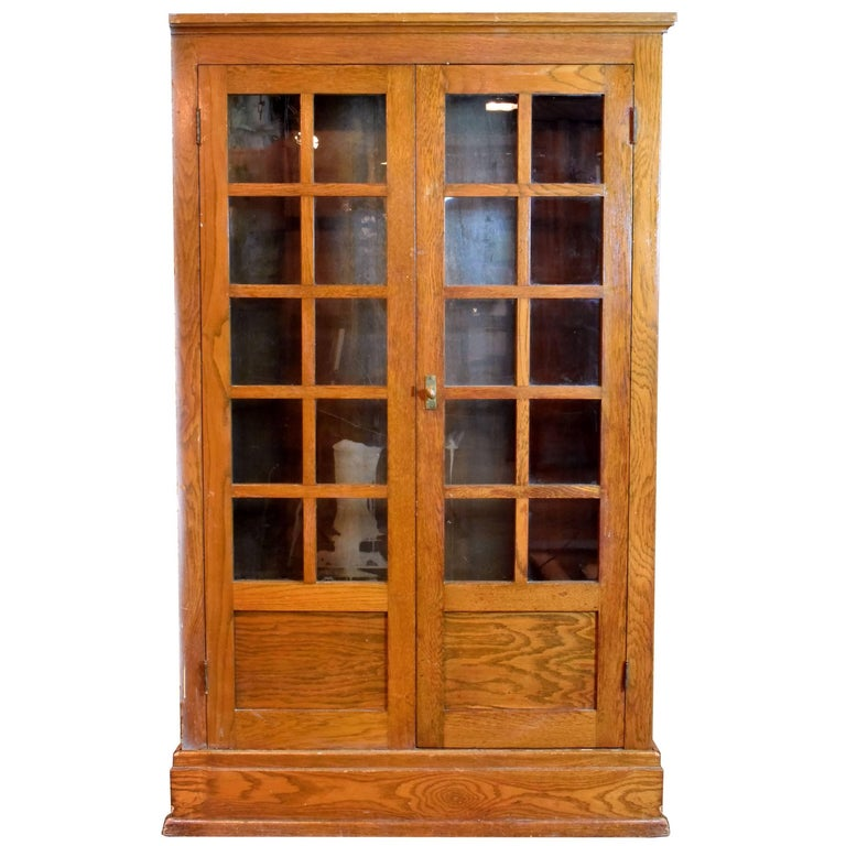 Arts and crafts built in schoolhouse cabinet for sale at for Arts and crafts storage cabinet