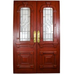 Entrance Door Set with Beveled Glass Windows