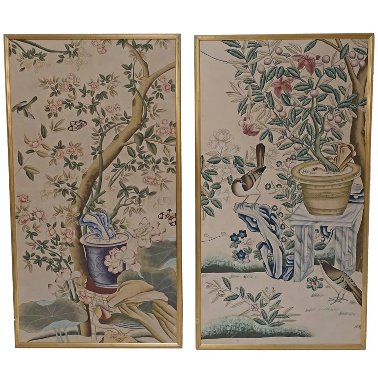 Chinese Wall Paper Panels For Sale