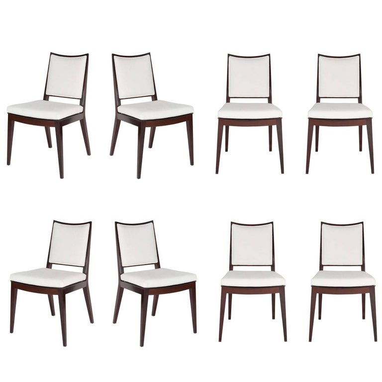 Set of Eight Frame Back Dining Chairs