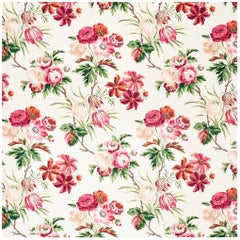 Schumacher Vogue Living Collection Cecil Floral Chintz Rose Fabric