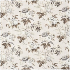 Schumacher Vogue Living Collection Cecil Floral Chintz Grisaille Fabric