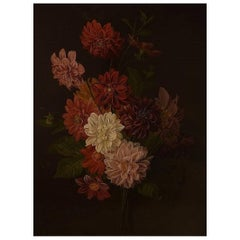 Old Master Oil on Wood, 1780s-1820s Flowers