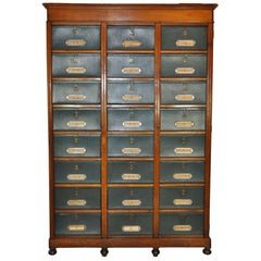 24 Box, Late 19th Century French Cartonnier or File Cabinet