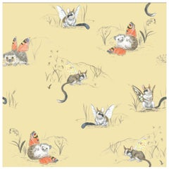 Winged Hedgehog and Dormouse Wallpaper from the for the Very Young Collection