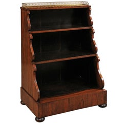 English Regency Petite Waterfall Bookcase in Rosewood, Early 19th Century
