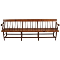Antique Late 19th Century Railroad Bench