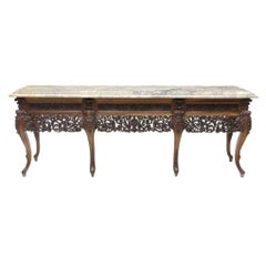 19th Century Spanish Baroque Style Walnut Long Console