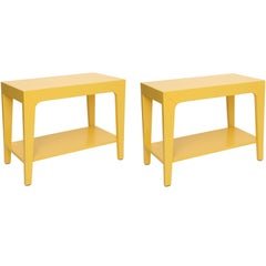 Pair of Yellow Side Tables