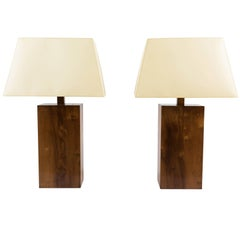 Pair of Modernist Block-Form Table Lamps