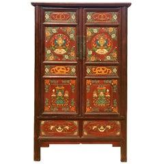 Large Antique Tibetan Cabinet