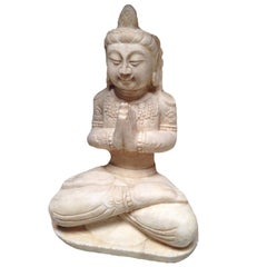 White Marble Kwan Yin Stone Statue, Asian Garden Statue and Sculpture