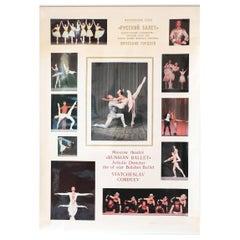 Vintage Russian Ballet High Glossy Soviet-Era Poster, 1980s Bolshoi / Gordeev