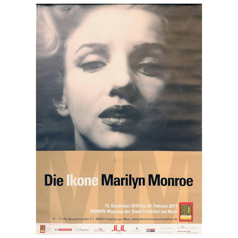 Marilyn Monroe, German Exhibition Poster, 2010-2011 For Sale
