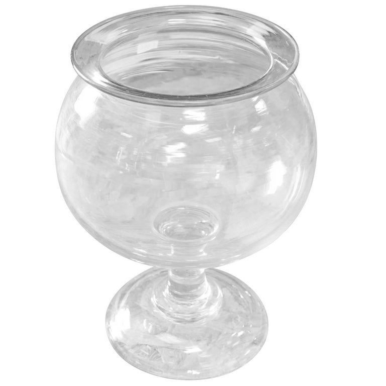 19th Century Crystal Leech Bowl, France