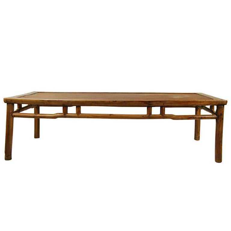Chinese Low Rattan Top Daybed