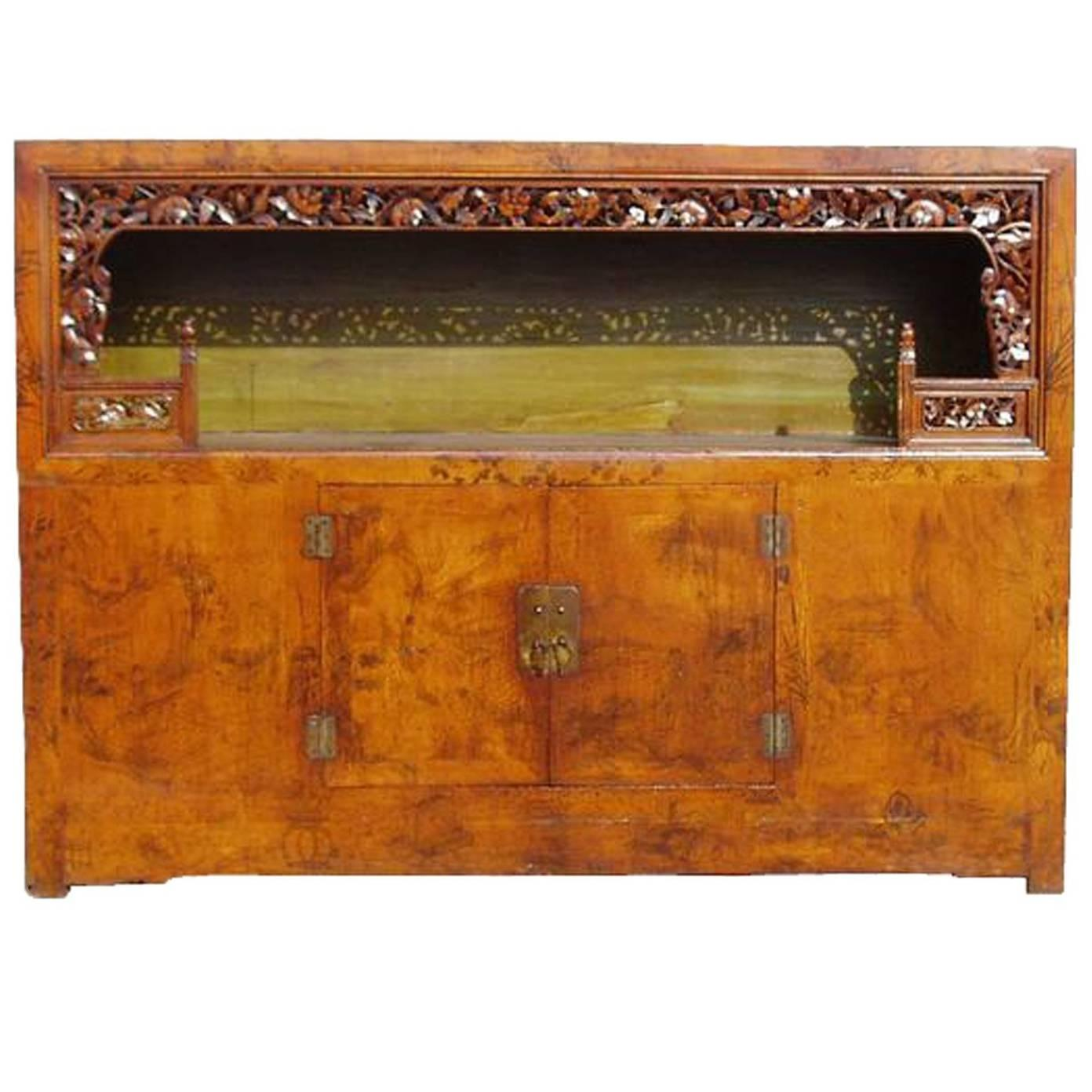 Chinese Antique Scholar's Chest Bookcase