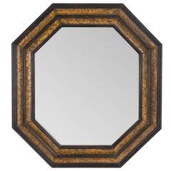 Painted Hexagonal Mirror