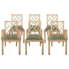 Vintage Bone Tiled Dining Chairs