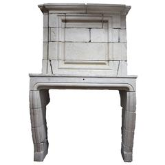 18th Century French Limestone Mantel