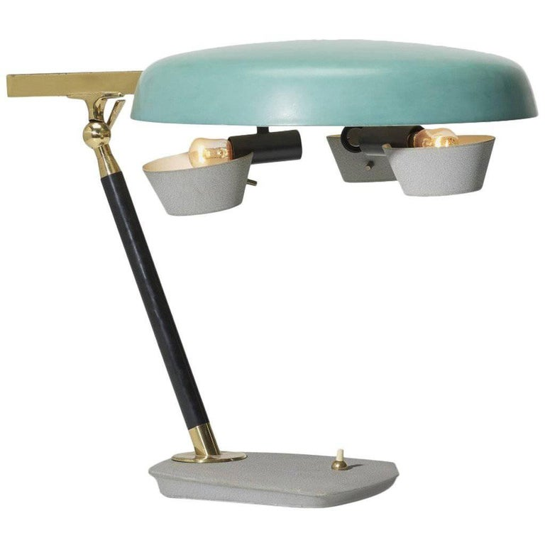 Oscar Torlasco Table Lamp of Rare Form, Italy, 1950