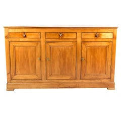 Antique French 19th Century Buffet with Three Drawers over Three Doors