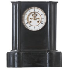 French 19th Century Black Marble Mantel Clock