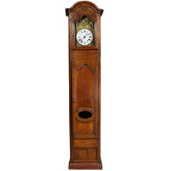 Louis XVI Provincial Fruitwood Tall Case Clock