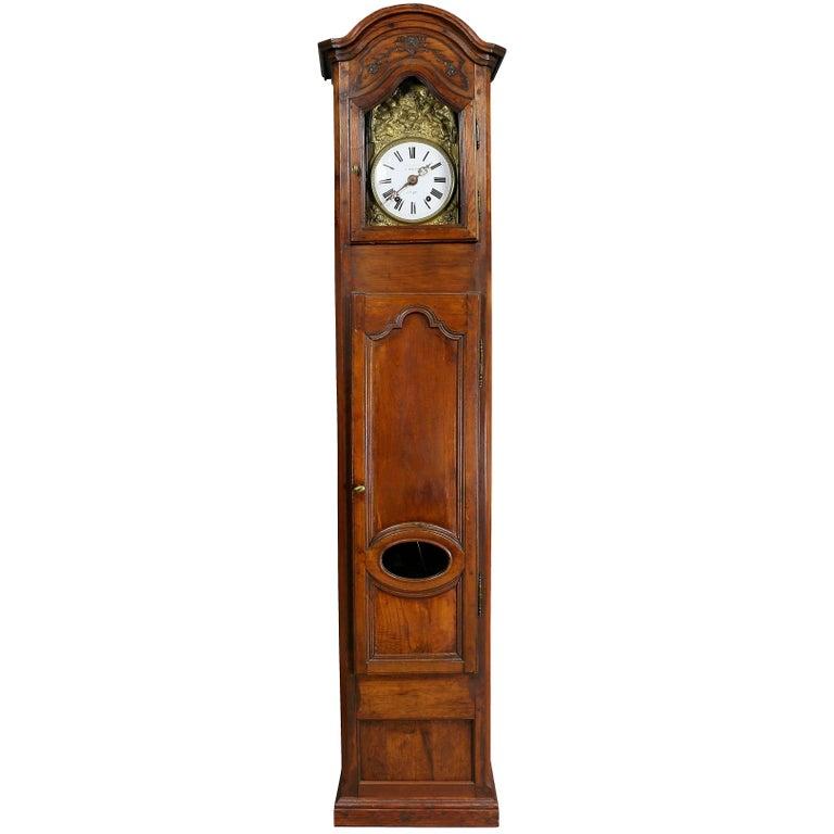 Louis XVI Provincial Fruitwood Tall Case Clock