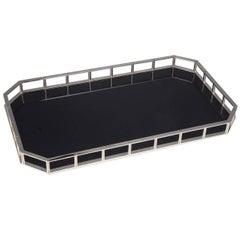 Rectangular Tray with Carbon Fiber