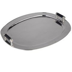 Oval Tray with Carbon Fiber Handles