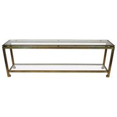 Maison Ramsay, Exceptional Console, Iron and Glass, circa 1970, France
