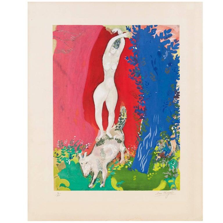 (after) Marc Chagall, Femme de Cirque, Paris, 1960 For Sale