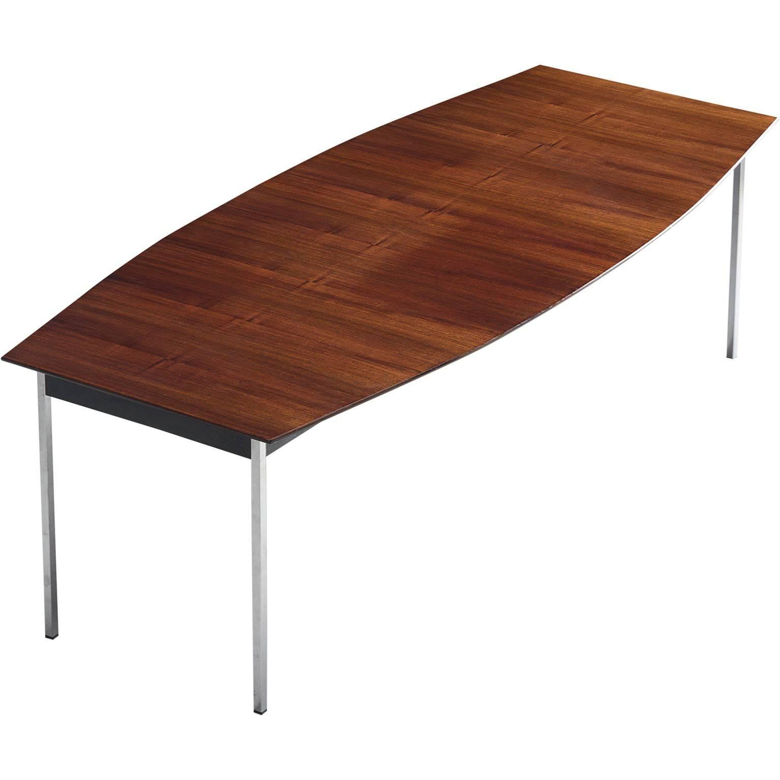 Alfred Hendricks Boat Shaped Rosewood Dining Table 1