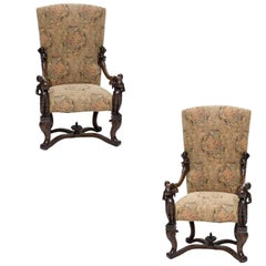 19th Century Venetian Baroque Armchairs