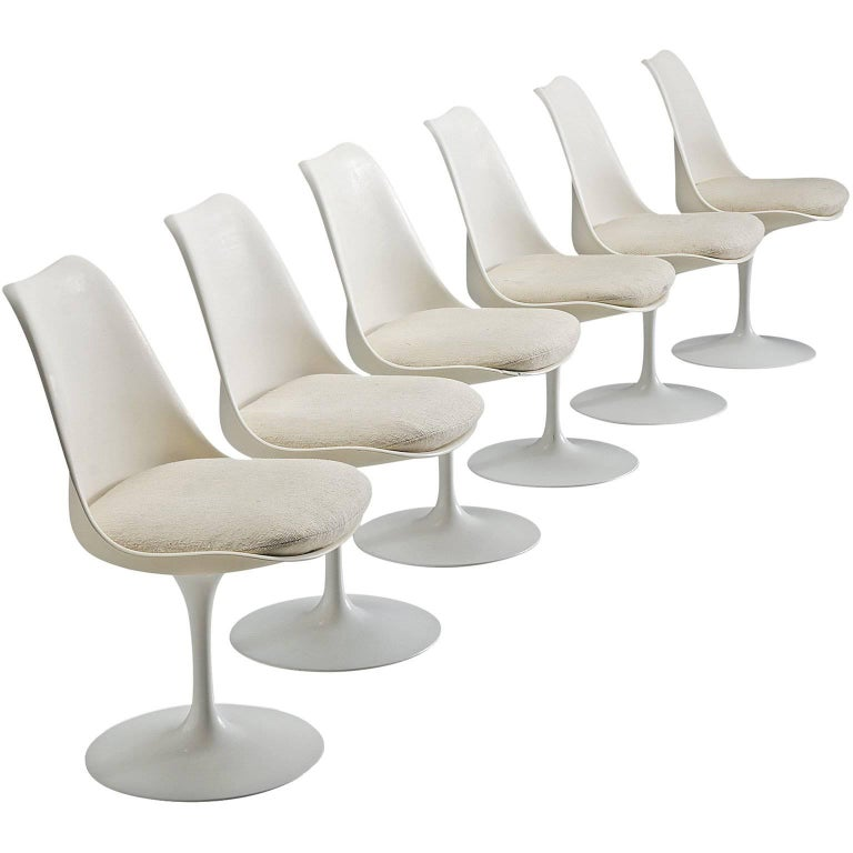 Eero Saarinen Set of Six Tulip Chairs for Knoll International