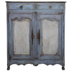 French Mid-18th Century Louis XV Small Painted Cupboard or Armoire, circa 1760
