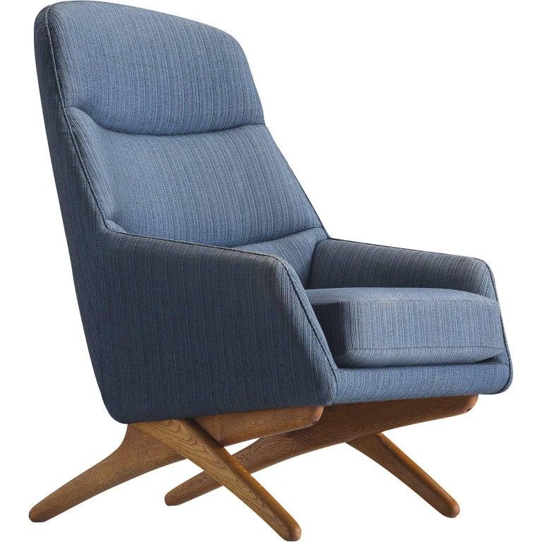 Illum Wikkelsø Lounge Chair in Oak, 1960s
