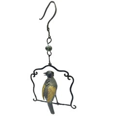 Bronze Parrot Incense Burner, Hanging Censer